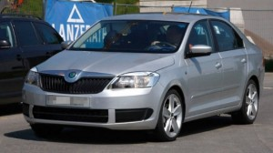 front view on skoda rapid