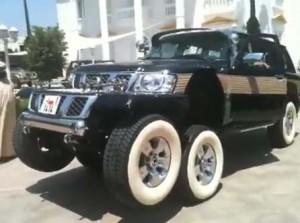 video of modified 6 wheel 4X4