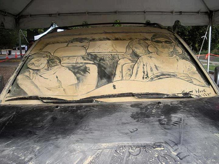 Finger Drawing Car Art On A Dirty Car Because Wash Me Is Too