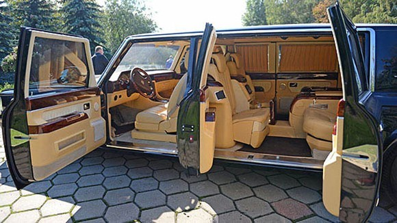luxurious presidential limousine for russia