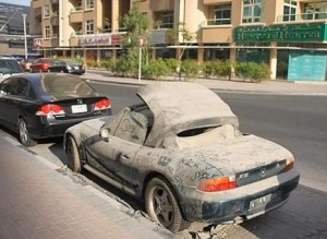 dubai cars are abandoned cars