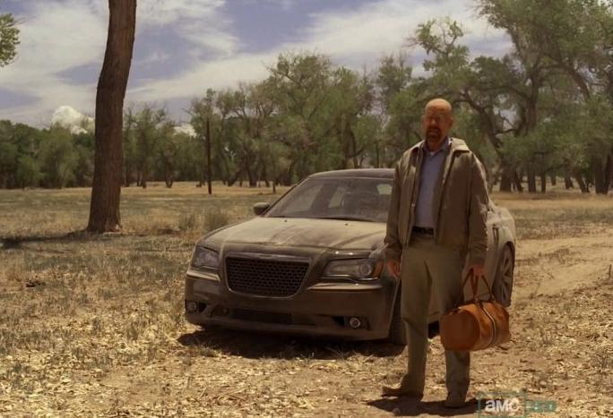 Breaking Bad  selling cars for Chrysler Why Because Walter